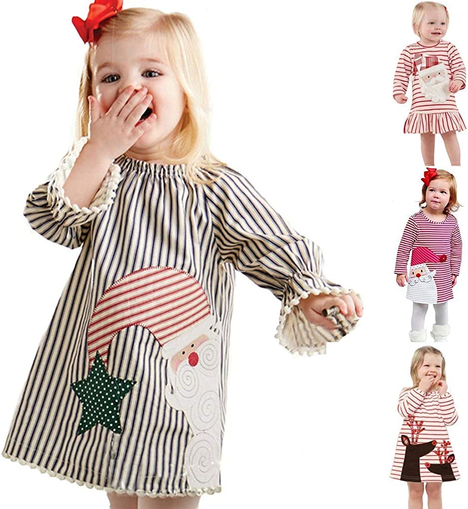 Beppter Max 42% OFF Toddler Baby Ranking TOP19 Girl Infant A-Line Dresses Dress Christmas