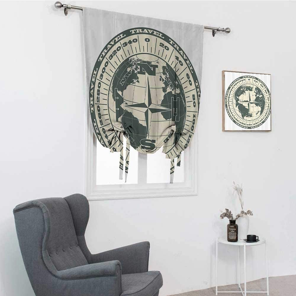Compass Decor Collection Roman Window Shades, Illustration of Gl