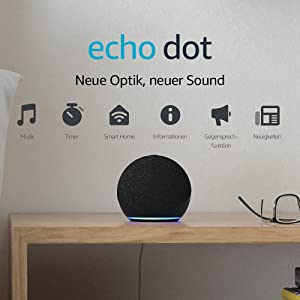 Echo Dot (4. Generation)   Smarter Lautsprecher mit Alexa   Anthrazit