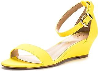 b5eeea449604 DREAM PAIRS Women s Ingrid Ankle Strap Low Wedge Sandal
