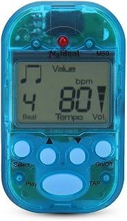 Meideal M50 ミニ メトロノーム 電子デジタルテンポ 高ボリューム クリップ式 楽器通用 コンパクト プラスチック 5カラー(ブルー)