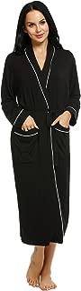 Ekouaer Bath Robes Womens Soft Knit Sleepwear Kimono Collar Long Loungwear S-XXL
