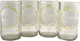 Tumblers Drinking Glasses Made From Recycled Soda Bottles 12 Oz - set of 4 (Clear)