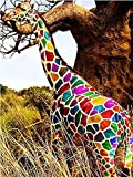 5D DIY diamante bordado Animal jirafa Kit de punto de cruz diamantes de imitación artista decoración del hogar pintura de diamantes A16 50x70cm