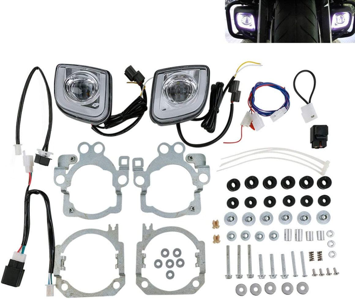 Green-L Rectangular LED Fog Fort Worth Mall Light Kit Fit Goldwing for Sales Honda GL1
