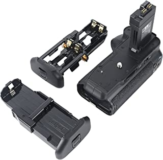DSTE Replacement for Pro BG-E8 Vertical Battery Grip Compatible Canon EOS 550D 600D SLR Digital Camera as LP-E8