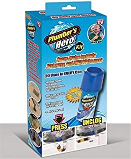 Plumber's Hero Kit - Unclog Drains Instantly - 20 Uses in Every Can - In E-Commerce Packaging
