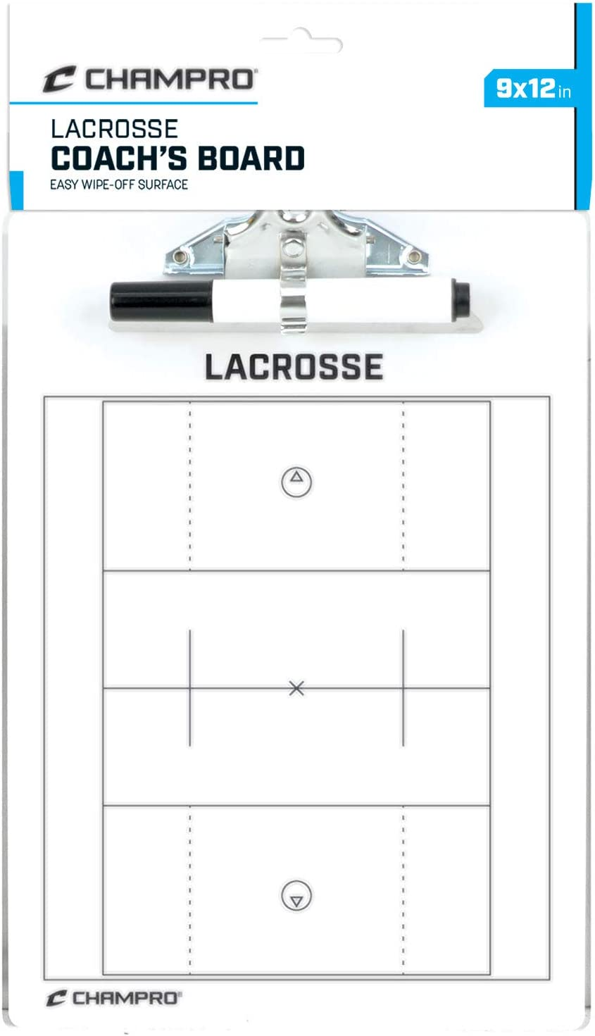 Omaha Mall Champro Lacrosse Coach's Board 12 9-Inch Complete Free Shipping White x