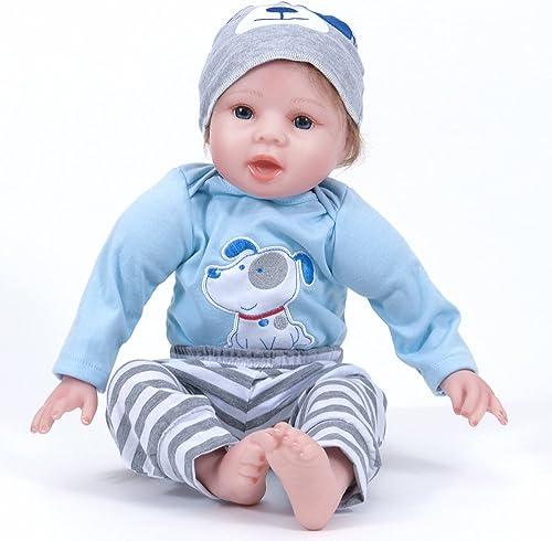 LZTET Reborn Baby Puppe Weiße Simulation Silikon Vinyl Lebensechte Junge mädchen Spielzeug Beste Geschenk Für Kinder,5cm