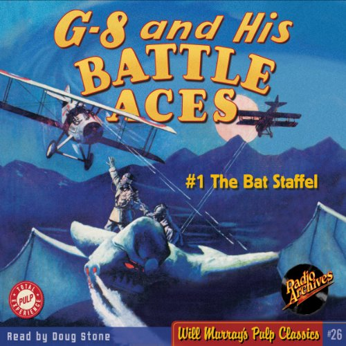 G-8 and His Battle Aces #1, October 1933 audiobook cover art