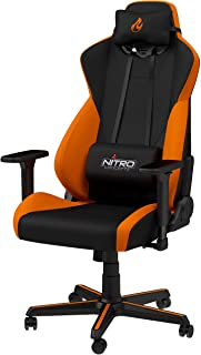 Nitro Concepts S300 ゲーミングチェア オフィスチェア 日本正規代理店品 ファブリック 布 オレンジ NC-S300-BO-JP
