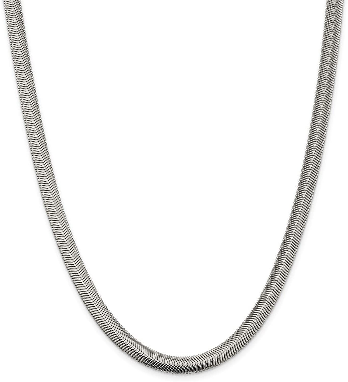 Beautiful Sterling silver 925 sterling Sterling Silver 6.25mm Flat Oval Snake Chain