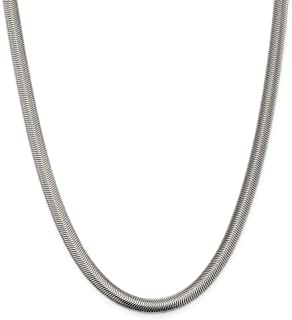 925 Sterling Silver 6.25mm Flat Oval Snake Necklace Chain Pendant Charm Fine Jewelry Gifts For Women For Her