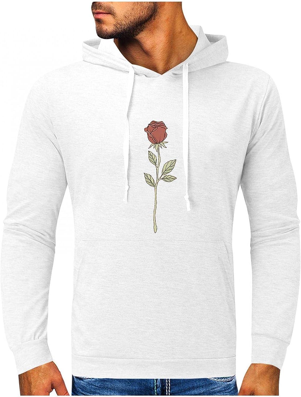Qsctys Hoodies for Men Oklahoma City Mall - Sweatshi Lightweight Slim Casual New Free Shipping Cotton
