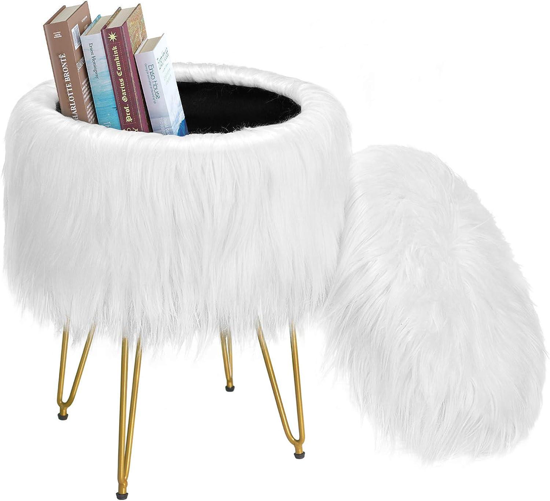 Greenstell Reservation Vanity Stool Chair 4 Metal R Under blast sales Legs with Pad Anti-Slip