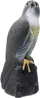 Lifelike Fake Falcon Hunting Decoy, Bird Repellent Scarecrow Hawk Decoy for Garden, Porch, Yard