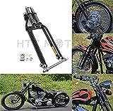 HTTMT SF001-III- Compatible with Black Springer Front End +2' Length Harley Davidson Sportster Bobber Chopper