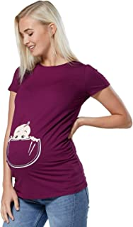 Happy Mama Para Mujer Camiseta Premam/á T-Shirt El/ástico Top Mangas Cortas 999p