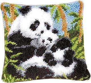 chiwanji Bricolage Coussin Tapis Tapis Loquet Crochet Tapis Kits - 43 x 43 cm - Panda