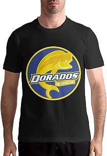 JamesMMika Dorados De Sinaloa Mens Black T-Shirt Custom Short Sleeve Top Tees