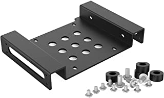 5.25 inch to 2.5 or 3.5 inch Aluminum Alloy Hard Drive Caddy Hard Drive Converter Adapter Mounting Bracket with Screws and...