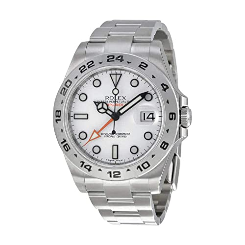 Rolex Explorer II White Dial Stainless Steel Oyster Bracelet Automatic Mens Watch 216570WSO