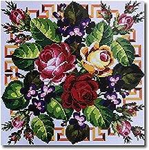 Stafil Needlepoint Kit Flowers with Hummingbirds 16x12in 40x30cm Printed Canvas LJ7551