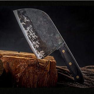 Cuchillos cocina Cuchillo de cocina forjado hecho a mano chino carnicero cocina cuchillo de hueso Chopper Tang completa cubiertas de la manija de acero de alto carbono cuchillos del cocinero regalo gr