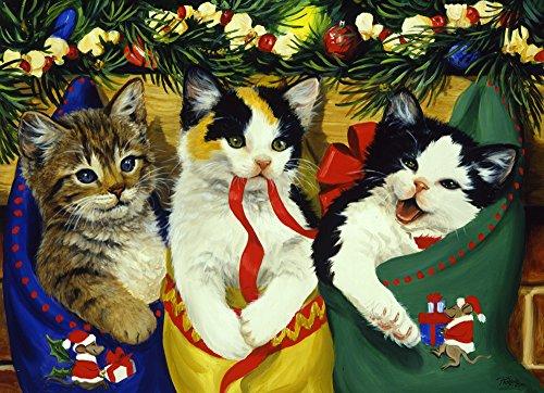 Vermont Christmas Company Gattini di Natale Jigsaw Puzzle 1000 Pezzi