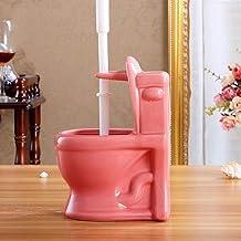 Makkelijk te gebruiken WC-vorm Keramische basis + TPR-toiletborstelset Multicolor Reinigingsborstelhouder Badkamer Accesso...