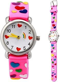 Eleoption Waterproof Kids Watch for Girls Boys Time Machine Analog Watch Toddlers Watch 3D Cute Cartoon Silicone Wristwatch Time Teacher for Little Kids Boys Girls Birthday Gift Toys