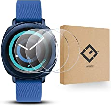 CENTAURUS Screen Protector-(3 Packs) Anti-Scratch Ultra-Thin Shatter Proof 2.5D Arc Edges HD Clear Smart Watch Tempered Glass Protective Film Replacement for Samsung Gear Sport SM-R600 ?31mm?