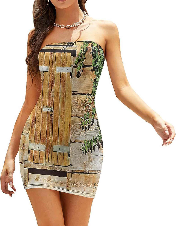 SUZM Women's Strapless Bodycon Club Dress Wreck by Cyclades Island Dresses