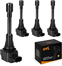 QYL 4Pcs Ignition Coils Pack Replacement for Nissan Altima Sentra Rogue 2008-2017 Cube 2009-2014 Tiida 2011-2014 Versa 2007-2011 X-Trail 2008-2012 Rogue Select 2014-2015#C1696 UF549 5C1753