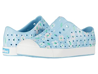 Native Kids Shoes Jefferson Print (Little Kid) (Sky Blue/Shell White/Daisy) Girls Shoes