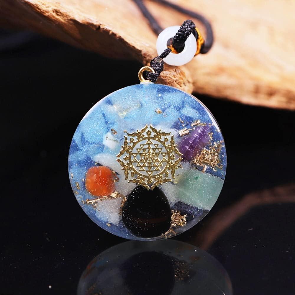 ZILMAKO Translated Luminous Orgonite Soldering Pendant With Ene Copper Crystal Scraps