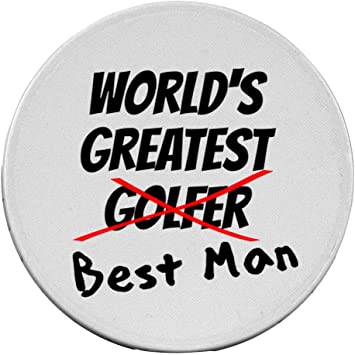 Amazon Com Bestman Wedding Party Gift Golf Ball Putting Marker Poker Chip Office Products