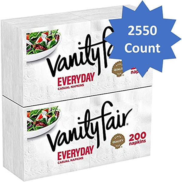 Vanity Fair Everyday Napkins 2550 Count White Paper Napkins Pack Of 2550