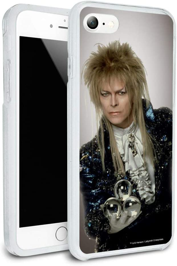 David Bowie As Jareth from The Labyrinth Protective Slim Fit Hybrid Rubber Bumper Case for Apple iPhone 7 and 7 Plus
