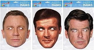 Thorness Daniel Craig, Roger Moore, Pierce Brosnan Official James Bond Face Masks