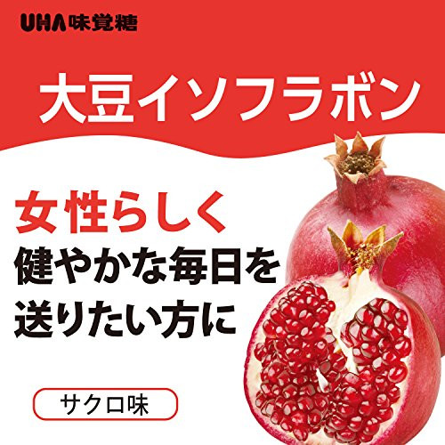 UHAグミサプリ大豆イソフラボンザクロ味スタンドパウチ40粒20日分