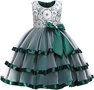 368d4b6abb Lurryly❤Kids Baby Girls Lace Bowknot Dresses Wedding Princess Formal Tutu  Dress Outfit 2-