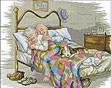 Kit de punto de cruz, diseño de pareja de abuelos