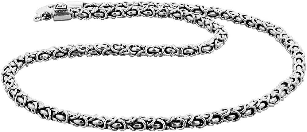 Kuzzoi - collana bizantina per uomo,  in argento massiccio sterling 925 345055-060