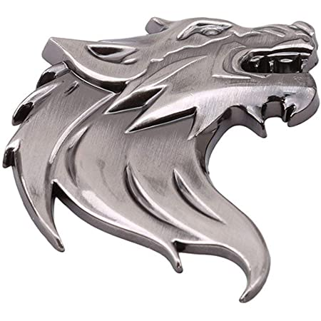 Auto Styling Auto Auto Lkw 3d Metall Wolf Kopf Emblem Abzeichen Aufkleber Aufkleber Auto Dekoration Abzeichen Logo Nützlich Und Praktisch Küche Haushalt