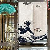 Oumefar Cortina de estilo japonés para puerta, de fibra de poliéster, para decoración del hogar, dormitorio, cocina
