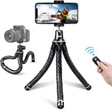 UBeesize Flexible Cell Phone Tripod, Mini Travel Tripod Stand with Wireless Remote Shutter, Universal Adapter Compatible with iPhone, Android,GoPro, DSLR, Action Camera.