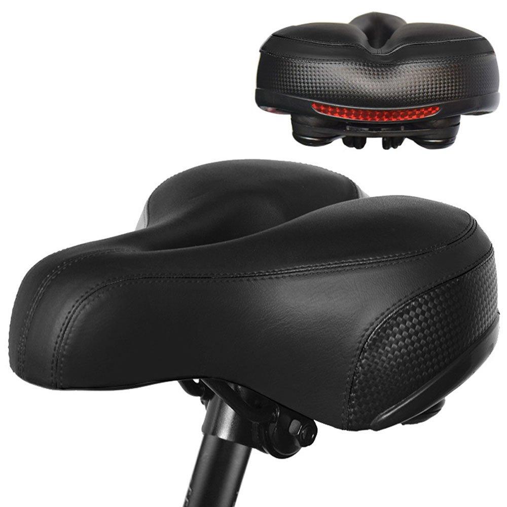 PULEN Sillín para Bicicleta Suave y Grueso Asiento Largo Cómodo de Bicicleta para Bici de Montaña Carretera Sillín con Reflector para Ciclismo Trekking Bike Seat Saddle/9 x 9.8 x 4.5 inch(Negro): Amazon.es: