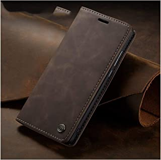 Magnetic Flip Leather Wallet Shell One Plus 7 Pro Phone Case 1+7Pro,Coffee,for Oneplus 7 Pro