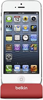 Belkin MIXIT Lightning Chargesync Dock för Apple iPhone/iPod (MFI-godkänd), Röd